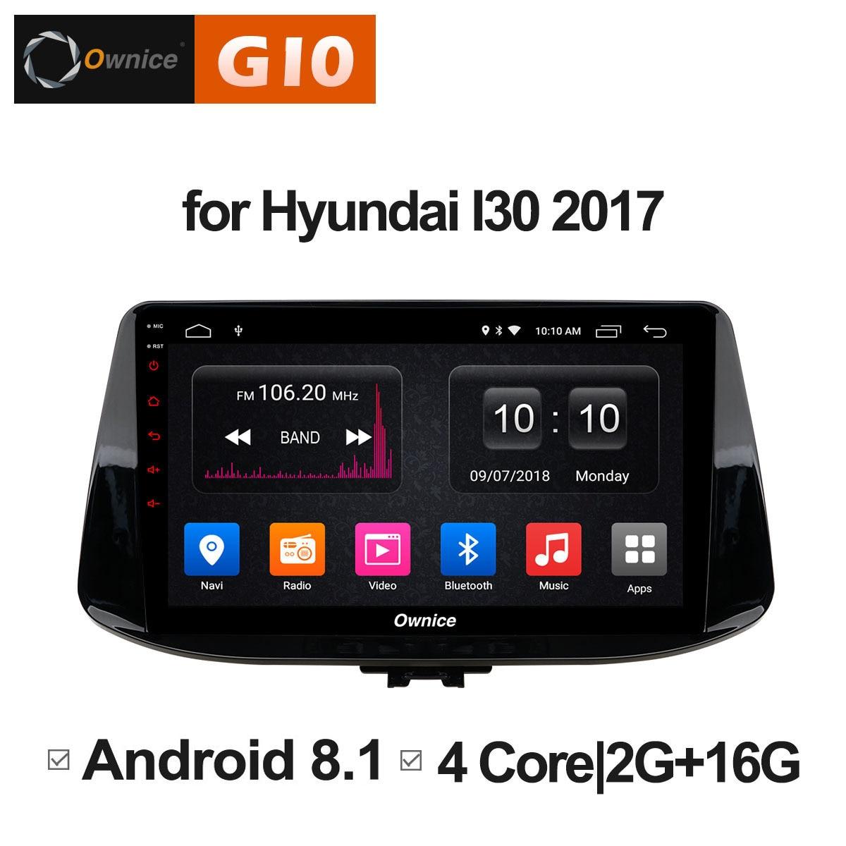 Android 8.1 unité pour Hyundai i30 2017 2018 voiture Pad DVD divertissement Intelligent multimédia Radio stéréo lecteur vidéo GPS Navi