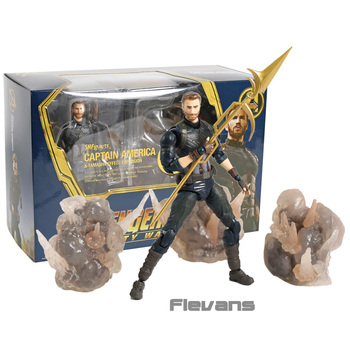 SHF SHFiguarts Avengers Infinity War Captain America & Tamashi Effect Explosion PVC Action Figure Collectible Model Toy muñeco buffon