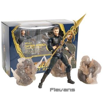 SHF SHFiguarts Avengers Infinity War Captain America & Tamashi Effect Explosion PVC Action Figure Collectible Model Toy predator concrete jungle figure