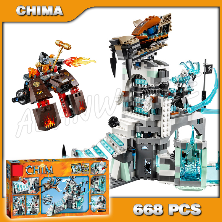 668 pcs Sir Fangar Ghiaccio della Fortezza di Base a Sciabola dente Flyer Gorzan Veicolo incredibile Strainor Voom Building Block Compatibile con Lego668 pcs Sir Fangar Ghiaccio della Fortezza di Base a Sciabola dente Flyer Gorzan Veicolo incredibile Strainor Voom Building Block Compatibile con Lego