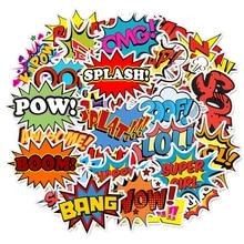 50 шт. стикеры в поп стиле звуковых слов, игрушки для детей, креативный текст для «сделай сам», скрапбукинг, ноутбук, чемодан, велосипед, наклейки, гаджет в подарок