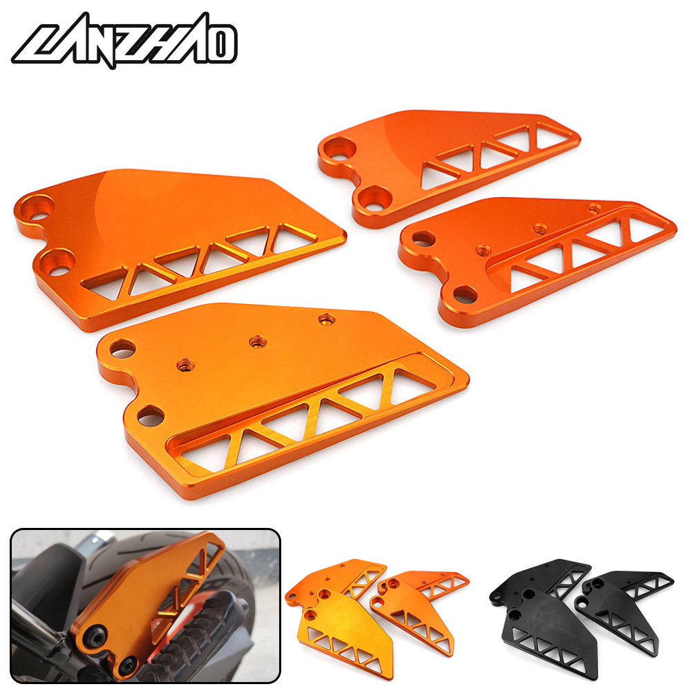 Orange Motorcycle Front Rear Foot Step Side Guard Wing Cover Protector CNC Aluminum Parts for KTM Duke 250 390 2017 2018 2019Orange Motorcycle Front Rear Foot Step Side Guard Wing Cover Protector CNC Aluminum Parts for KTM Duke 250 390 2017 2018 2019