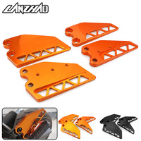 Orange Motorcycle Front Rear Foot Step Side Guard Wing Cover Protector CNC Aluminum Parts for KTM Duke 250 390 2017 2018 2019