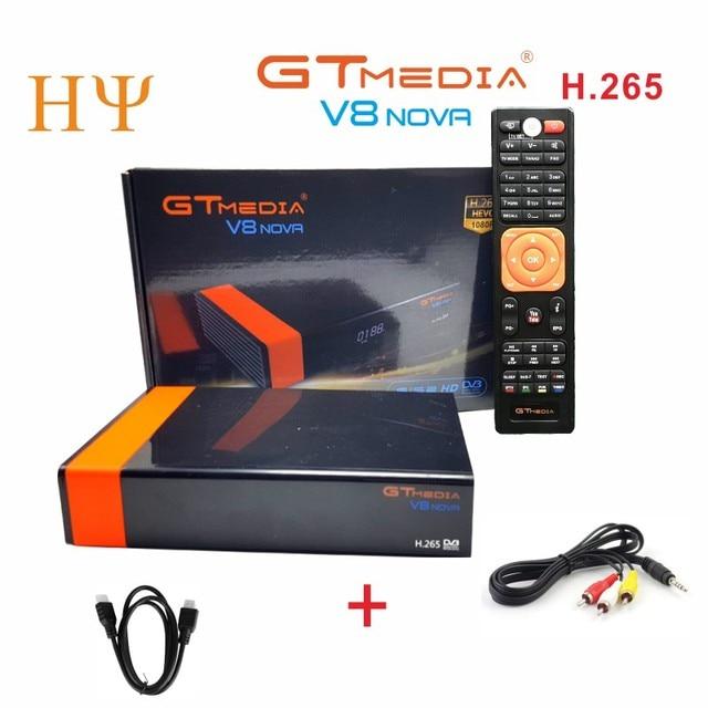 5Pcs/lot Gtmedia V8 NOVA same as free sat V9 SUPER DVB S2 satellite receiver Builtin wifi support H.265, AVS same as at V8 super