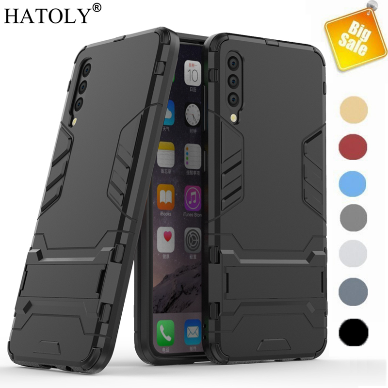 For Samsung Galaxy A70 Case Soft Silicon + Hard PC Cover Shockproof Armor Bumper Case For Samsung A30 A40 A50 A60 A70 A80 Case-in Fitted Cases from Cellphones & Telecommunications