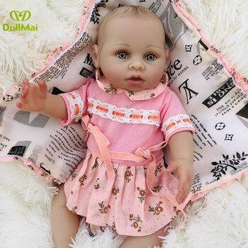 16inch Bebe boneca reborn silicone completa realista Girl reborn baby dolls toys for children gift newborn baby lol dolls