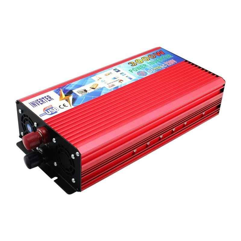 3000 W pico Real 2000 W inversor de corriente del coche 12 V a 220 V convertidor de onda sinusoidal modificada cargador de coche inversor de 12 V CC a CA 220