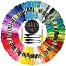 Embroidery Cross Stitch Set 100 pcs Cotton Threads Yarns 30