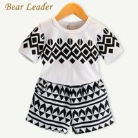 Bear Leader Kids Clothing Sets 2017 Summer Style Girls Clothing Sets Geometric Pettern T-shirt+Pants 2Pcs for Boys Clothing Sets