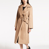 2018 Autumn Winter New Cashmere Coat Womens Slim Loose Wool Jacket Outwear Long Camel Woolen Blend Coats Overcoat Abrigos Mujer