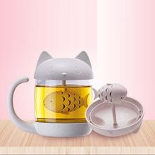 1 stück Büro tee Filter tassen Anime cat affe form tasse hochtemperaturbeständige Hause Geschenke Küche Tee Drink supplies A35