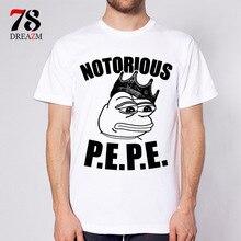 Pepe t-shirt masculina anime 2017 verão nova camisa dos homens t de impressão de manga curta mens camiseta homens clothing reta encabeça tee