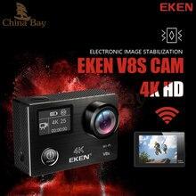 Оригинал Экен V8s экшн-камеры 4 К/25fps Ultra HD с Ambarella A12 чипе внутри Go Водонепроницаемый мини Cam PRO Спорт камеры EIS