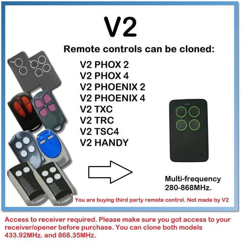V2 PHOX2 new version of V2 PHOENIX2 Remote control transmitter 433,92MHz