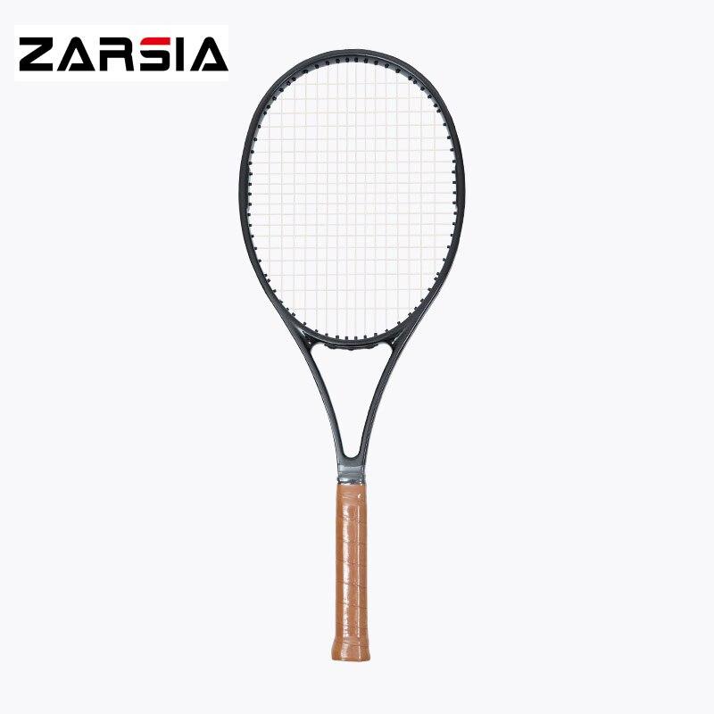 2017 NEW woven black racket taiwan OEM 97 97 sq in carbon Racquet 16 19 tennis