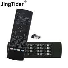 2018 NEW MX3 2.4G Mini Wireless Air Mouse Keyboard Infrared Remote Control for Smart TV Android TV Box Computer PC Projectors