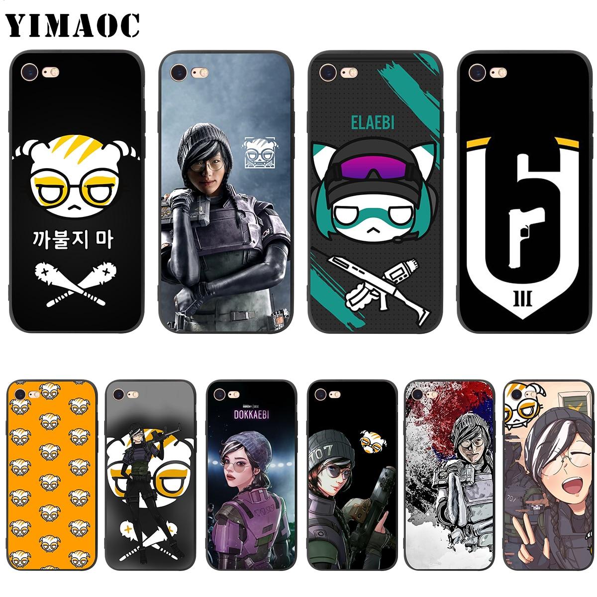 YIMAOC Dokkaebi Rainbow Six Soft Silicone Case for iPhone