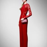 Plus Size Jumpsuits And Rompers For Women Elegant Jumpsuit Top Regular Fashion Women Jumpsuit Lace Pants Leg New Arrival