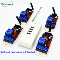 433mhz Wireless Light Remote Control Switch AC 220V 10A 1Ch 4pcs Learn Relay With A 4