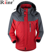Riinr 2017 Fashion New Arrival Winter Jacket Men Thick Velvet Warm Coat Thermal Warm Windproof Hood
