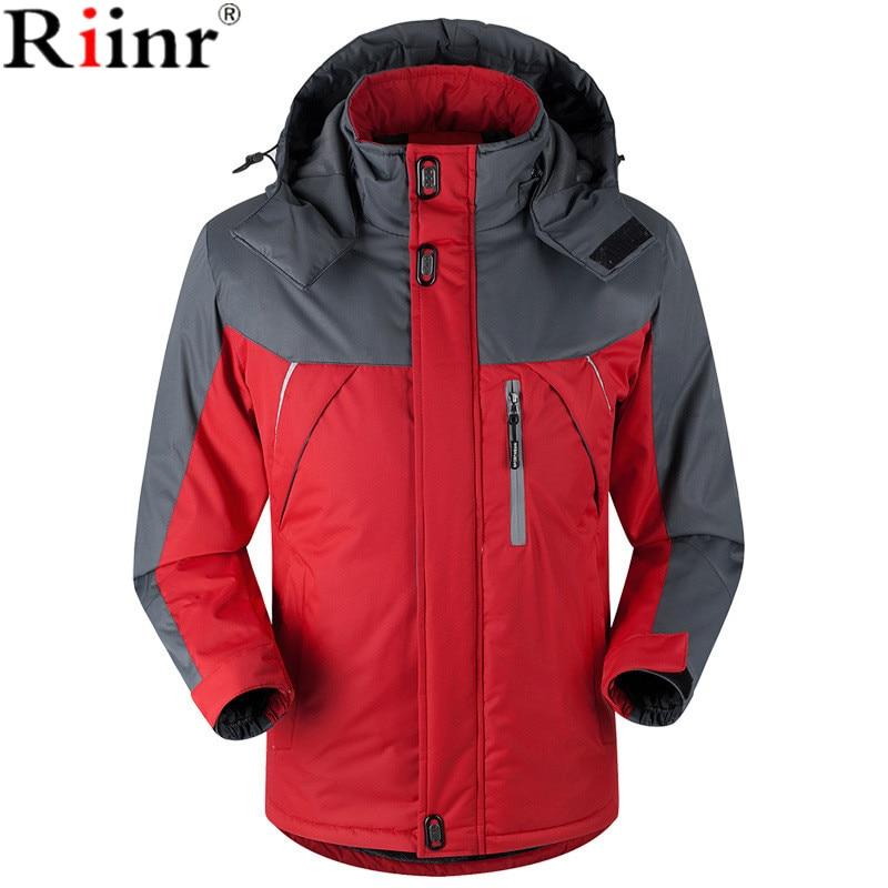 Riinr 2017 Fashion New Arrival Winter Jacket Men Thick Velvet Warm Coat Thermal Warm Windproof Hood Jackets Mens Outwear Parka