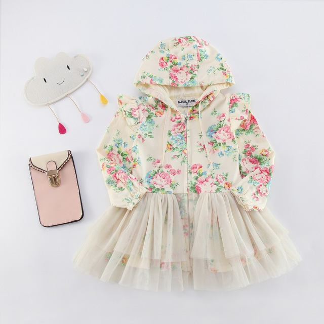 trench coats for girls imported infant girl chef coats child fanny hooded long sleeve cotton yellow lolita long dress coats