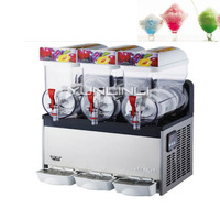 Snow Melting Machine Beverage Ice Machine Three Tanks of Commercial Slush Machine Beverage Ice Frozen Juicer XRJ15X3