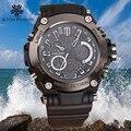 Top Para Hombre de la Marca Casual Relojes Digitales 30 M del Tiempo Dual Impermeable G estilo militar Reloj de pulsera de Deporte Al Aire Libre reloj impactante