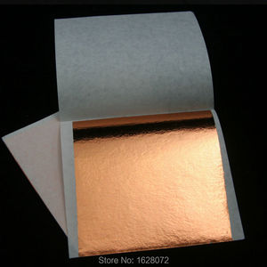 Image 2 - 500 sheets Taiwan Rose gold leaf for gilding furniture gold foil,80x85mm