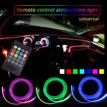 4 м RGB окружающего света автомобиля дистанционного Contror Атмосфера свет лампы для мотоциклов неоновая лента DIY 8 цветов интерьер автомобиля декоративный огни
