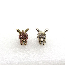 Cute Rabbit With Diamond Dustproof Plug Caps