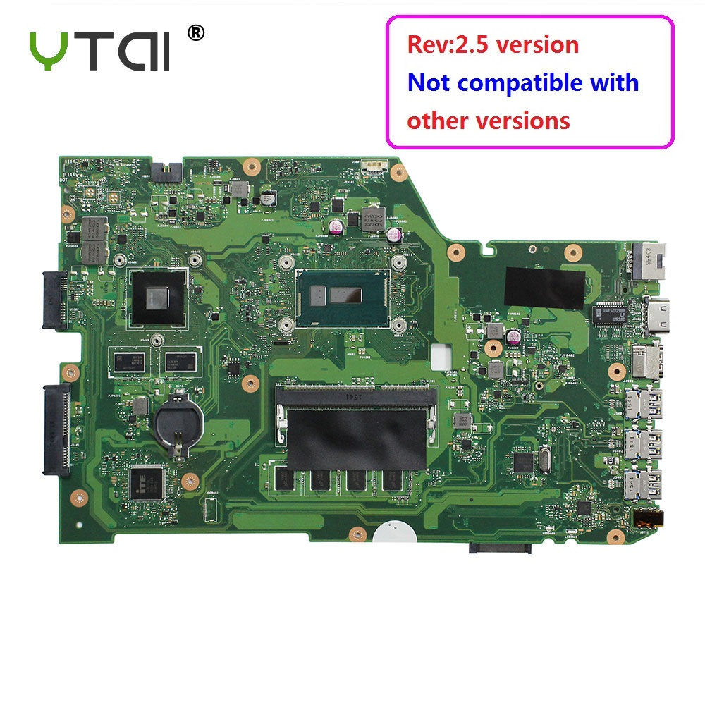 YTAI Original For ASUS X751L K751L K751LN X751LK X751LD F751LD REV 2.5 I7-5500U laptop notebook motherboard DDR3 HM86 original x751ld rev 2 0 for asus x751ln x751lj k751l laptop motherboard ddr3 with i7 4710 cpu 4gb ram mainboard 100% tested