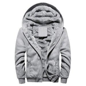 Image 4 - 2020 New Men Jacket Winter Thick Warm Fleece Zipper Men Jacket Coat Sportwear Male Streetwear Winter Jacket Men 4XL5XL
