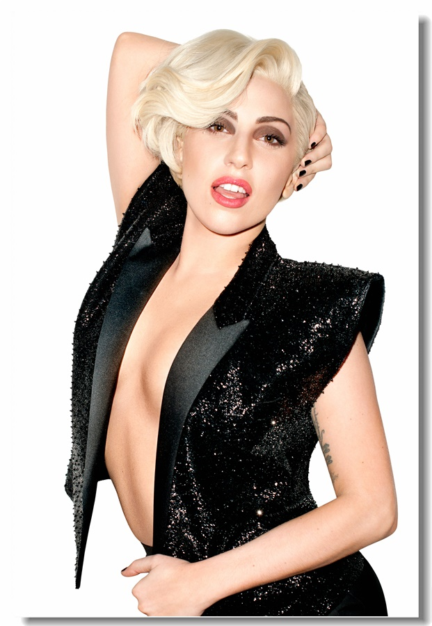 Custom Canvas Wall Decor Lady Gaga Poster Lady Gaga Stickers Office Wall Murals Sexy Pop Music Singer Wallpaper Bedroom #0249#