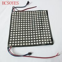 WS2812B светодиодный радиатор WS2811 IC 16X16 rgb Светодиодный модуль пикселей цифровой индивидуально addr Гибкая Светодиодная панель full Colorl DC5V