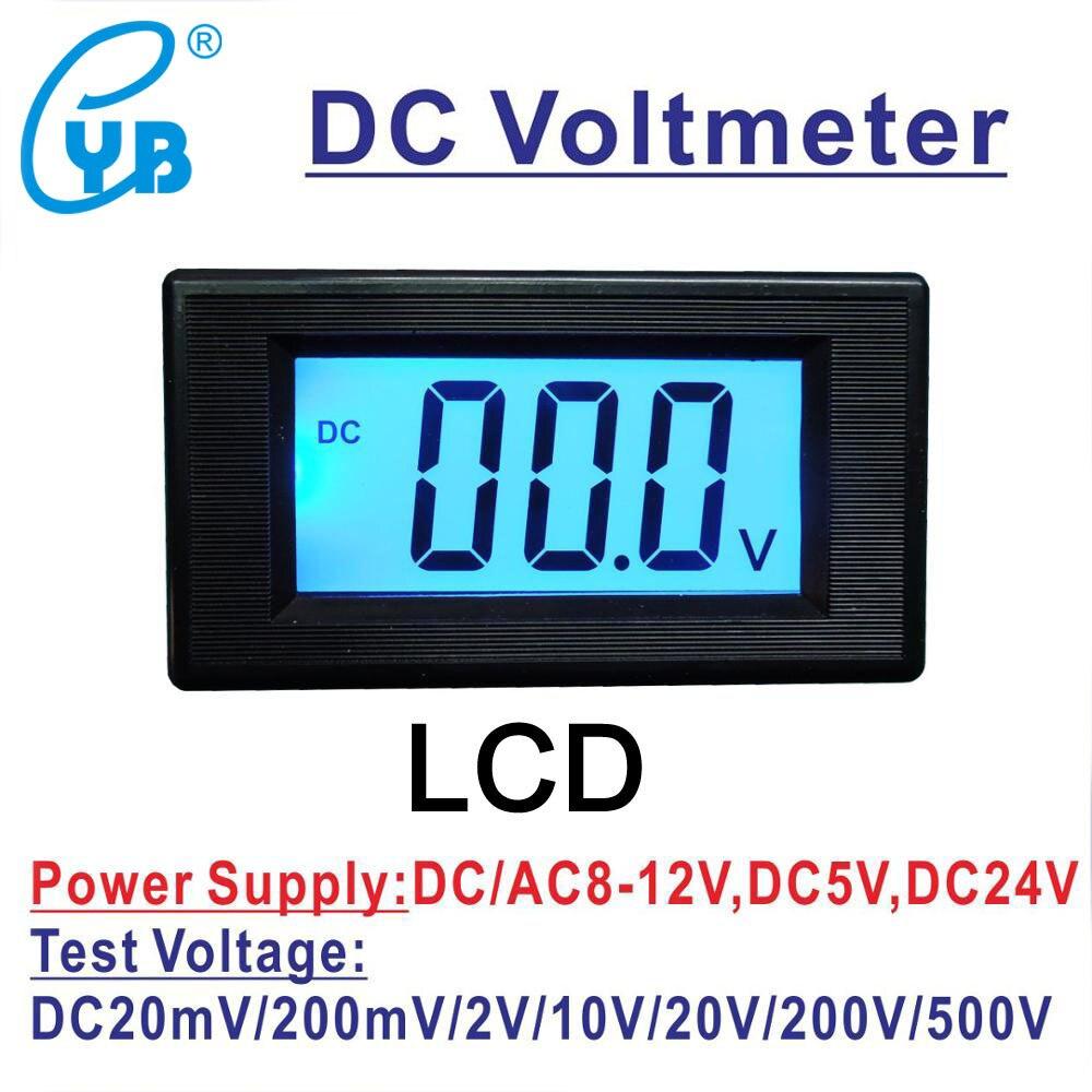 1 pcs YB5135D Blue LCD Display 3-Digits DC 0-2V Digital Panel Voltmeter