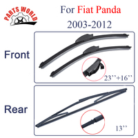 Group Silicone Rubber Windscreen Front And Rear Wiper Blades For Fiat Panda 2003 2012 Windshield Wiper