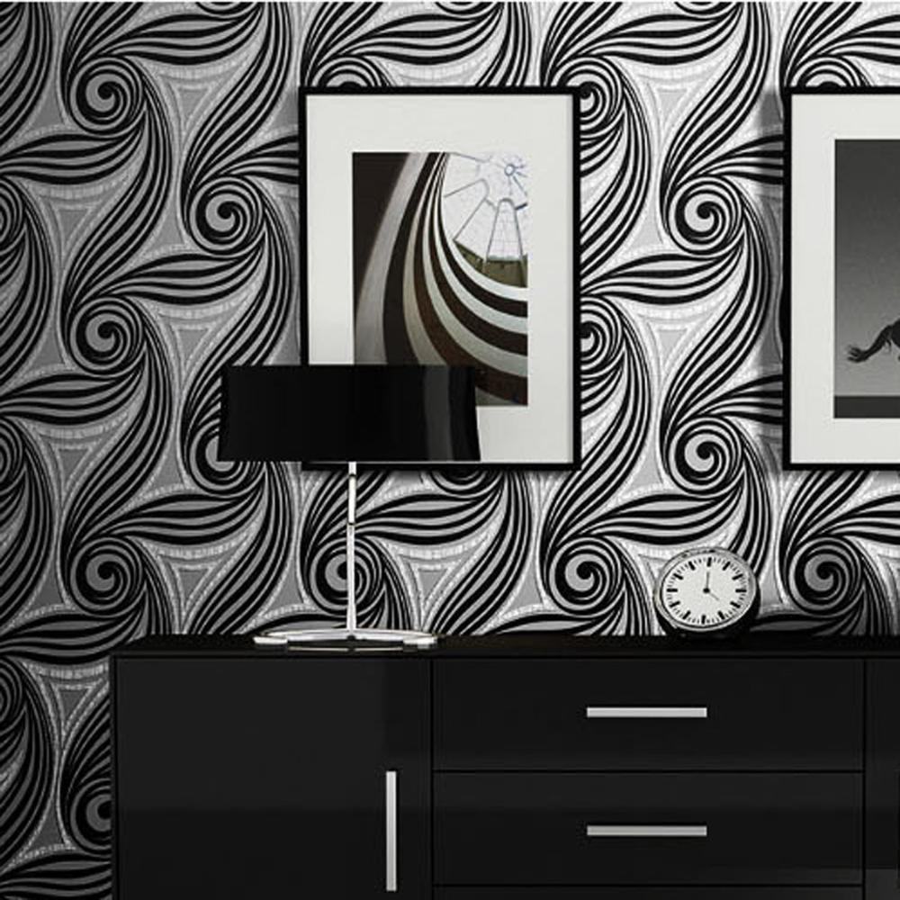 Modern minimalist suede wallpaper high-grade thick 3D abstract geometric patterns of non-woven TV background wall wallpaper modern abstract silk non woven wallpaper tv background wall circle wallpaper
