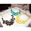 Brand designer Fashion Retro style Colorful Resin Beads  flower choker necklace Statement jewelry For  women