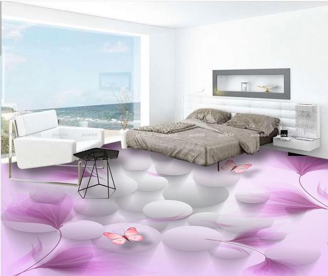 3D Boden Badezimmer | Boden Tapete 3d Fur Badezimmer Fantasie Lilie Bad 3d Boden Boden
