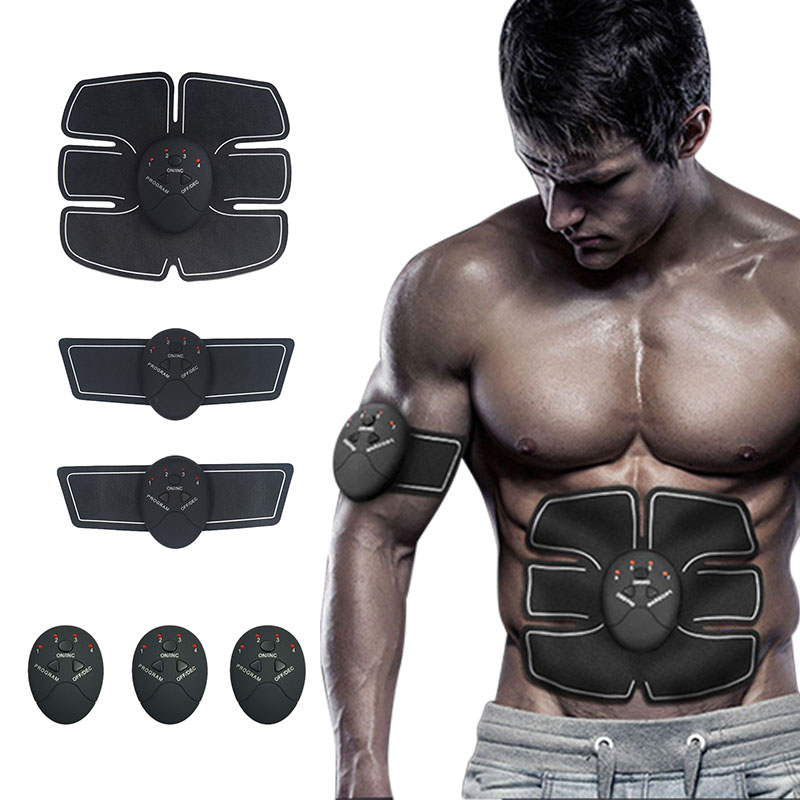 Full Set Durable Smart Stimulator Training Fitness Gear Muscle Abdominal Exerciser Toning Belt Battery Abs Fit High Quality