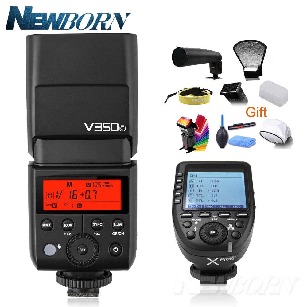 Godox V350C TTL HSS 2.4G Li-ion Battery Faster Recycle Time Speedlite Flash with Xpro-C Transmitte Trigger for Canon аккумулятор acmepower ap bp 208 li ion 7 4в 850мaч для видеокамер canon dc10 dc100 dc19 dc20 dc201 dc21 dc210 dc211 dc22 dc220 dc230 dc40 dc50 dc95 hr10 mvx450 mvx460