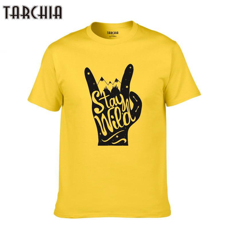 US $6 36 51% OFF TARCHIA 2019 boy Men T Shirts Short Sleeve TShirt Cotton  Casual fashion Tops Tee Summer Style Male new homme stay wied-in T-Shirts