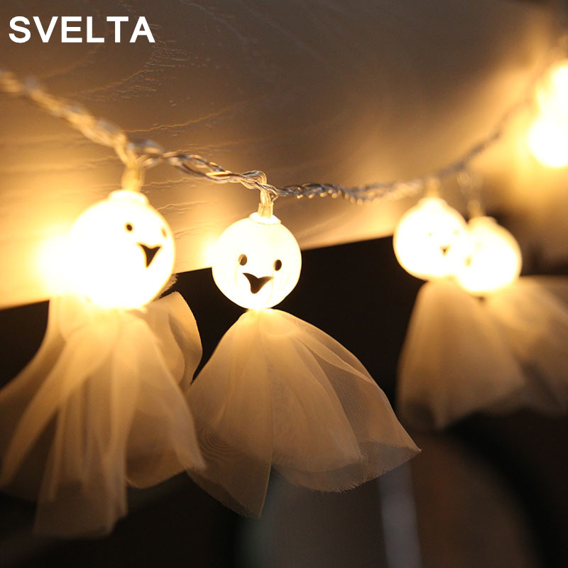 SVELTA 5M 20Bulbs Halloween Ghost LED String Lights Outdoor Indoor Garden Holiday Christmas LED Halloween Lights Decoration