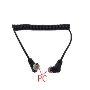 Image 4 - PC 2.5mm PC 3.5mm PC PC girare la testa del flash PC linea sincrona PC linea di piombo linea del flash