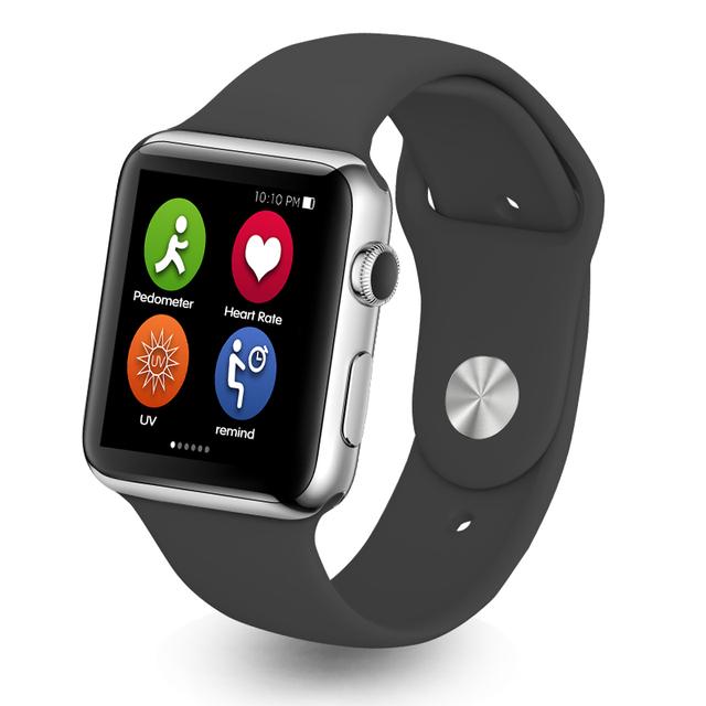 Nova IWO 1:1 Monitor de Freqüência Cardíaca Do Bluetooth Relógio Inteligente Smartwatch Digital Devices Wearable para iPhone IOS e Android Smartphones