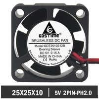 20 шт./лот Gdstime крошечные 5 В 2Pin 2510 25 мм 25 мм x 25 мм x 10 мм охлаждающие электрические продукты мини вентилятор охлаждения