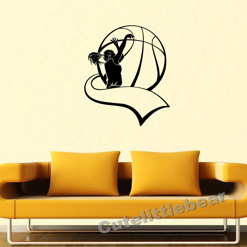 New sports volleyball vinyl wall decal home decor living room ...