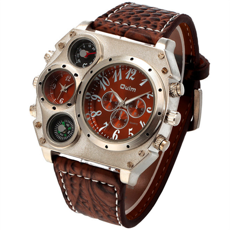 2016 new fashion dual time zones movements compass