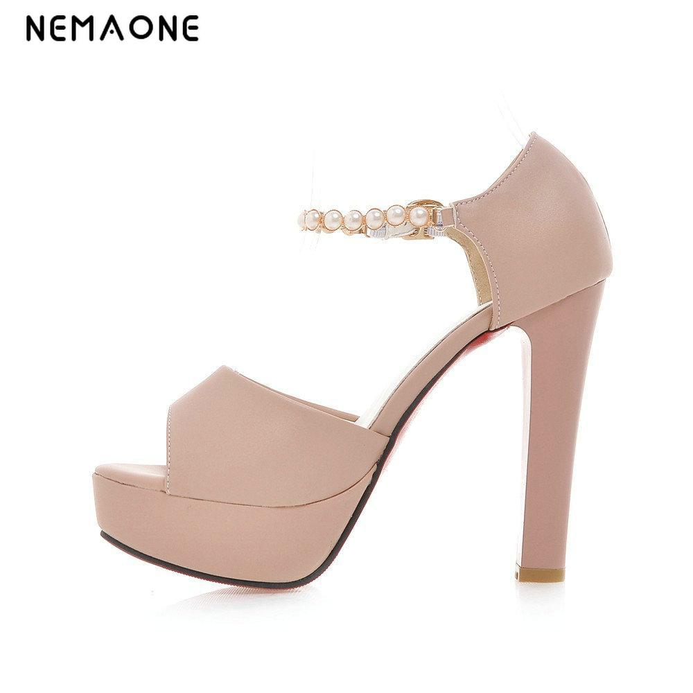 582a46c5685ed2 2017 Platform Sandals Heel High Heel Shoes Sandals Ladies Women Chunky Summer  Sandals Shoes NEMAONE Wedding Women XxnqfE7w7